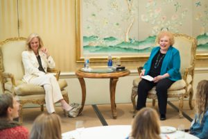 Christie Hefner speaks at Canon Club for women in entertainment and technology.