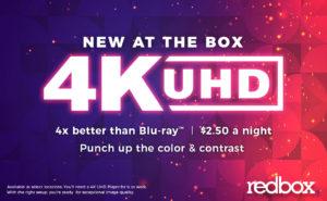 Redbox is testing 4K UHD Blu-ray discs in its kiosks.